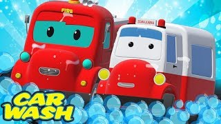 Road Rangers Go To Car Wash | Car Cartoon For Toddlers | Vehicles For Children by Super Kids Network