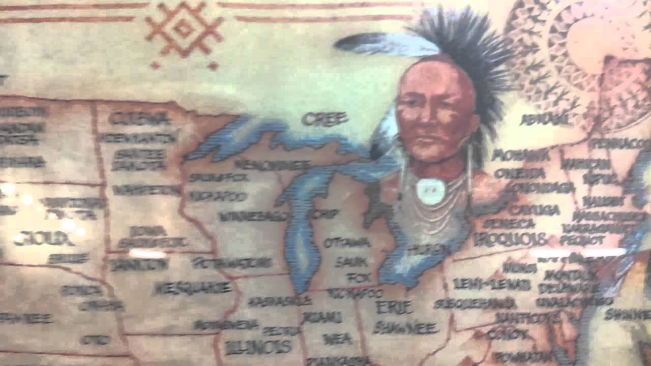 American Indian Tribes Map YouTube - Map us indian nations