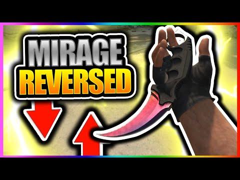 CSGO - MIRAGE REVERSED!! Mirrored Mirage Gameplay (CS GO How To Download Mirage Mirror Workshop Map)