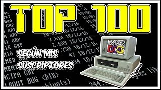 🥇TOP 100 MEJORES JUEGOS DE MS DOS DE LA HISTORIA según mis suscriptores para el pc classic
