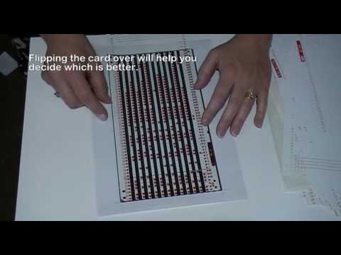Using A Transparency With Your Knitting Machine Punch Cards Youtube