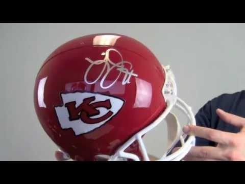 Larry Johnson Autographed Helmet - Kansas City Chiefs Replica- JSA