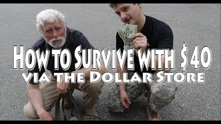 How to Survive with $40 via Dollar Store