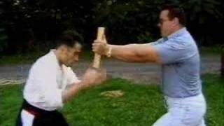 Karate Guy Trying To Break Wood Board