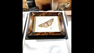 DIY picture frame for an Original Art Piece with recycled multi medium materials Video