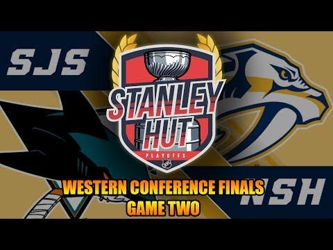 NHL 18 | STANLEY HUT PLAYOFFS - Nashville vs San Jose (Western Conference Finals, Game 2)
