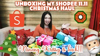 Unboxing my Shopee 11.11 Christmas Haul! | NINANG KRISSY IS BACK, MGA INAANAK! AYLAVETTEEE!!!