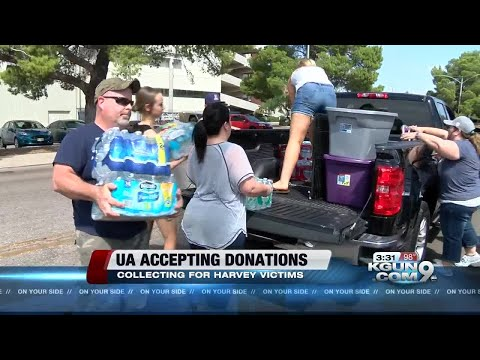 University of Arizona collects donations for Hurricane Harvey victims