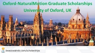 UK - University of Oxford NaturalMotion Graduate Scholarship #20150123
