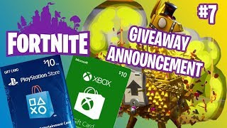 GIVEAWAY ANNOUNCEMENT | FORTNITE #7
