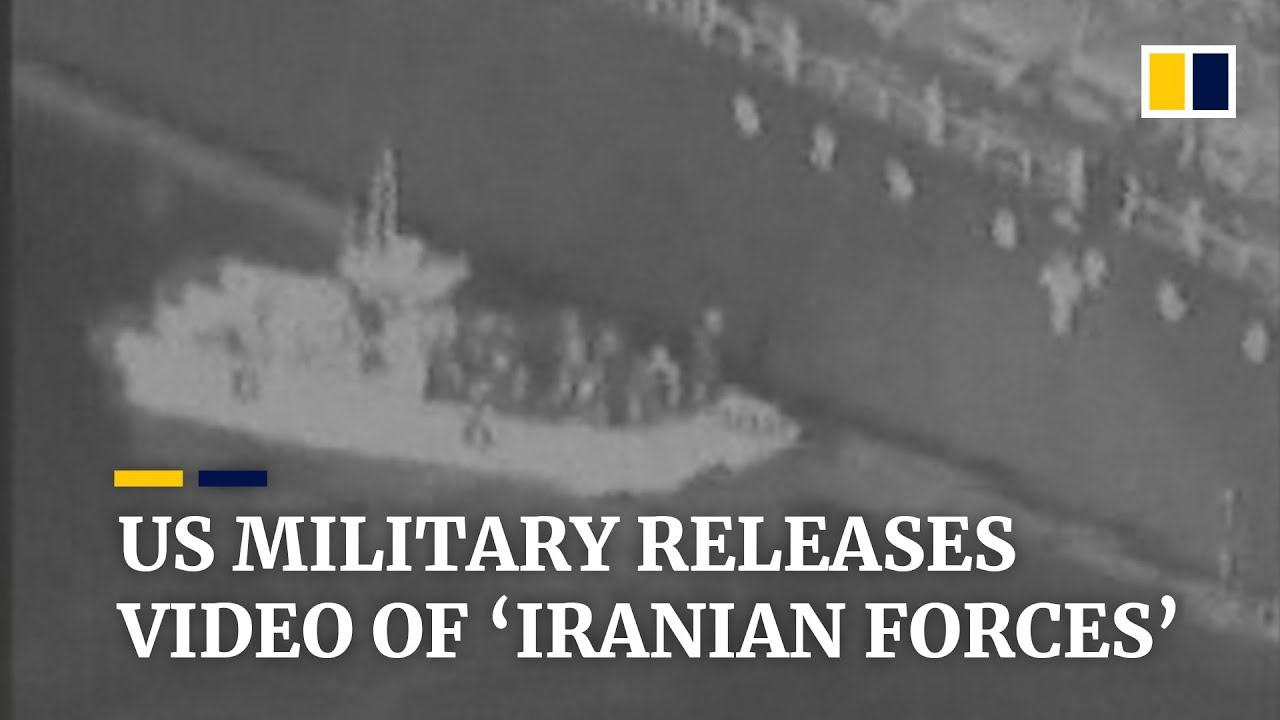 Gulf of Oman tanker attacks: US says video shows Iran removing mine