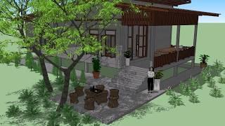 บ้านอินทร  ( No. 050 )   Sketchup by :  i.  pakdee