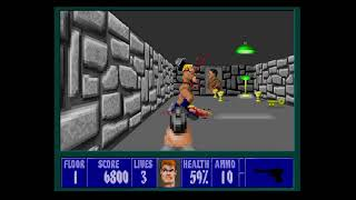 Wolfenstein 3D Playthrough Mission 3 Floor 1