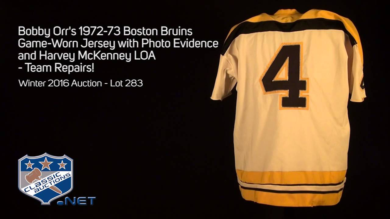 Bobby Orr s 1972-73 Boston Bruins Game-Worn Jersey with Photo Evidence and  Harvey McKenney LOA. Classic Auctions 33aec0c6d
