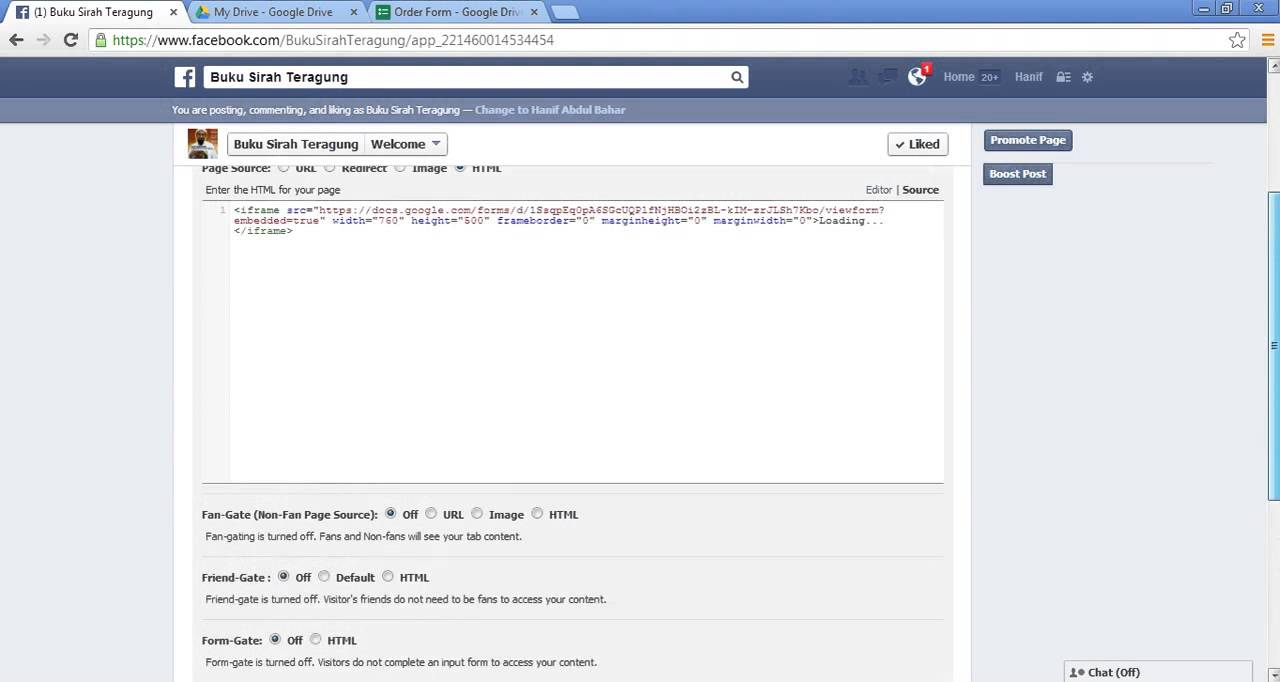 Create An Order Form in Facebook - YouTube