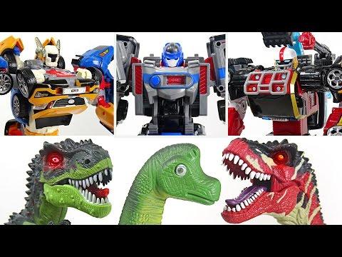 Movie Tobot Tritan, Tobot Athlon Magma 6 and Metron! Rescue the dinosaurs together! - DuDuPopTOY