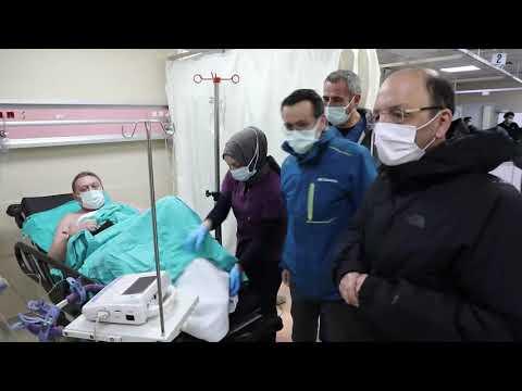 Vali Güner batan gemiden kurtarılan 6 kişiyi ziyaret etti