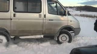 Баргузин 4х4 по снегу(1 декабря резвились в снегу на берегу р. Волга., 2013-12-02T11:35:53.000Z)