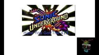 DiC's Sonic Underground - Have You Got The 411 ROBLOX Music Video