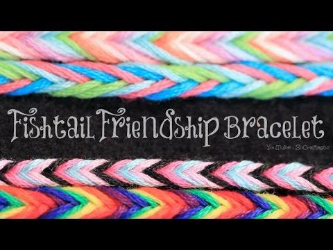 DIY Fishtail Friendship Bracelet   SoCraftastic