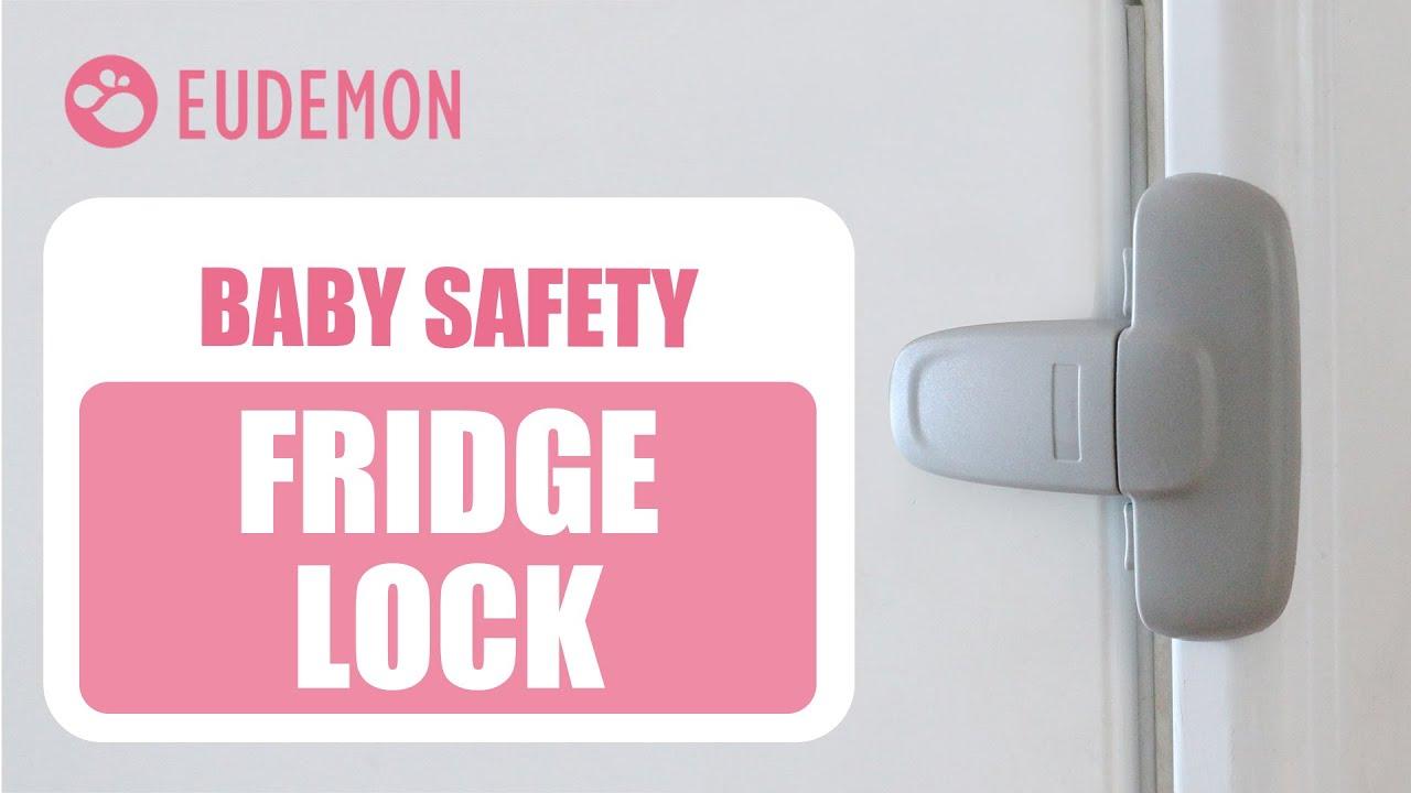Eudemon Home Refrigerator Fridge Freezer Door Lock Latch Catch Toddler Kids Chil