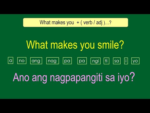 English Tagalog Question Structures # 133 ( How To Ask Questions )