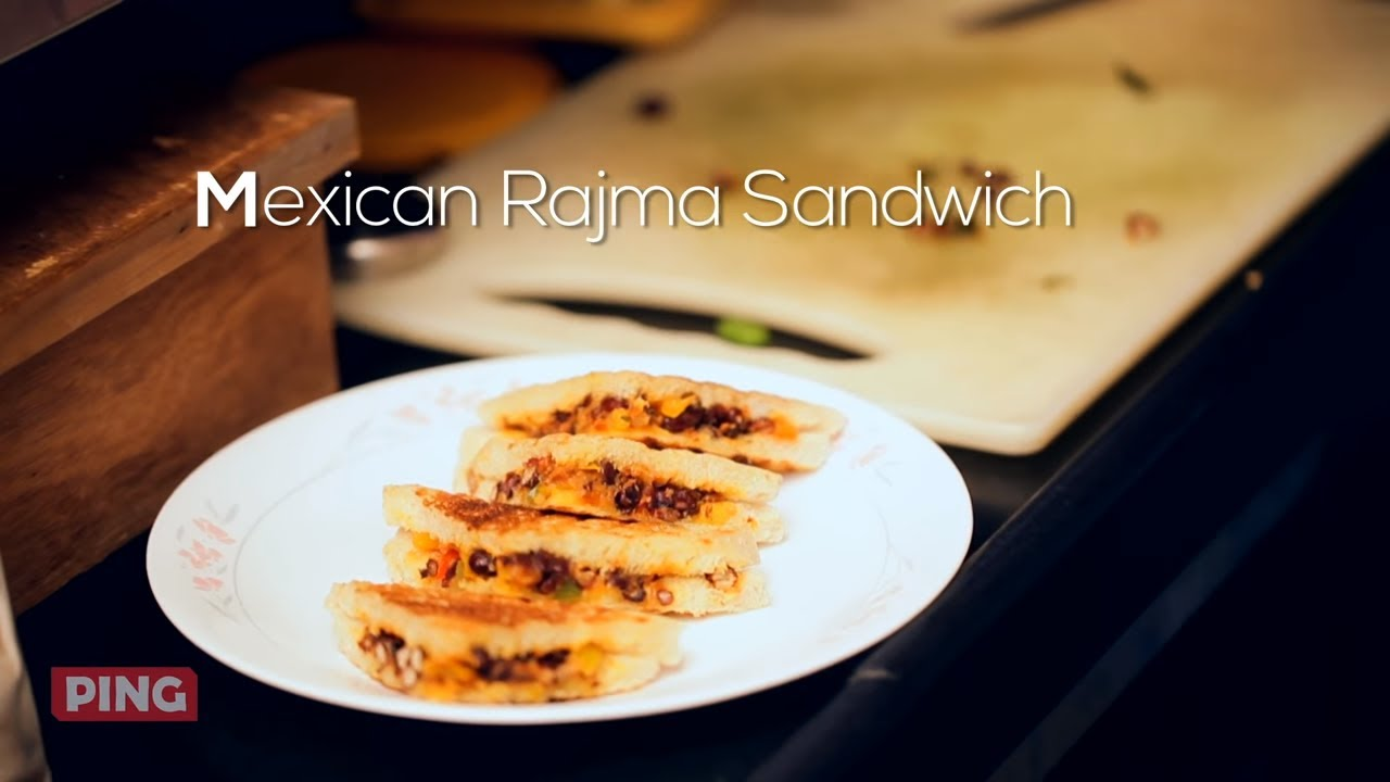 How To Make Fusion Mexican Rajma Red Kidney Beans Sandwich At Home Chef Pranav Joshi Youtube