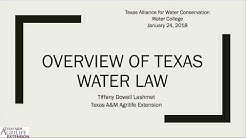 TAWC Water College 2018: Overview of Texas Water Law - Tiffany Dowell Lashmet