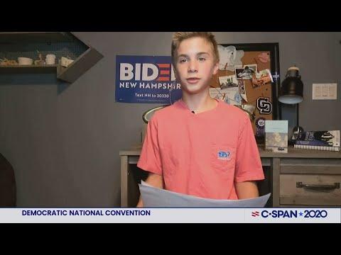 13-year-old Brayden Harrington speaks at Democratic National Convention