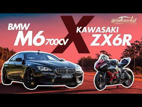 BMW M6 (700 CV) x KAWASAKI ZX6-R! FT. DURVAL CARECA E SERGIO TROY - RACHA ACELERADOS #3