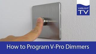 How To Program Varilight V-pro Dimmers