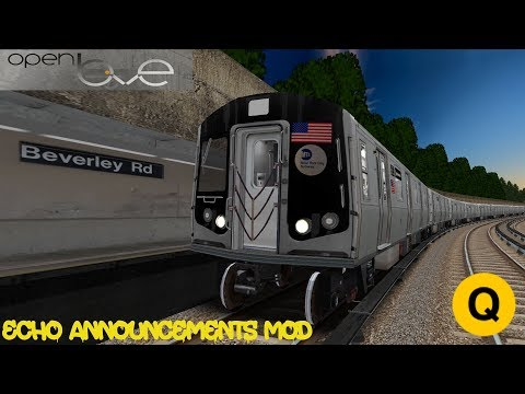 OpenBVE: (Q) To Coney Island Via Brighton Local | Echo Announcement Mod | R160 Siemens | Cab Ride 🚇