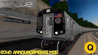 OpenBVE: (Q) To Coney Island via Brighton Local | Echo Announcement Mod | R160 Siemens | Cab Ride 🚇