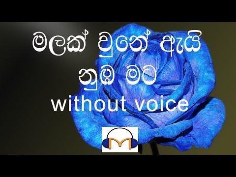 Malak Une Ai Numba Mata Karaoke (without voice) මලක් වුනේ ඇයි නුඹ මට
