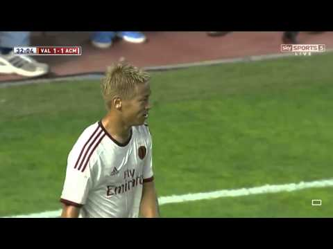 Keisuke Honda worst corner kick ever   Valencia vs AC Milan   Pre Season Friendly, 2014 HD