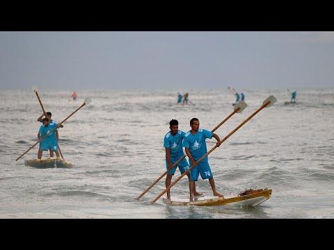 شاهد: أول مسابقة للتجذيف بمشاركة فلسطينيات على شواطئ غزة  - نشر قبل 3 ساعة
