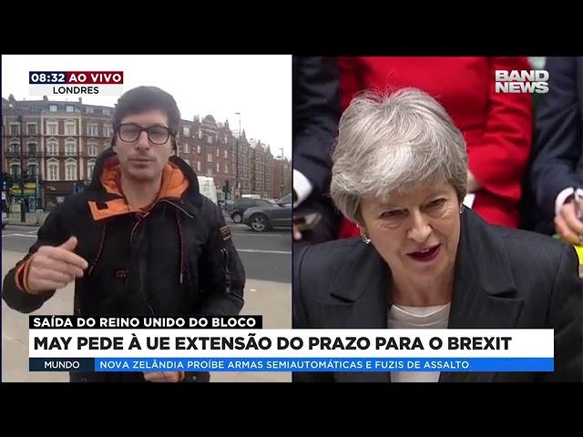 May pede à UE extensão do prazo para o Brexit