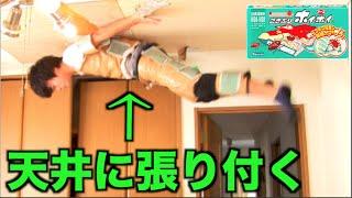 背中ゴキブリホイホイで天井に受け身したら貼り付けるのか thumbnail