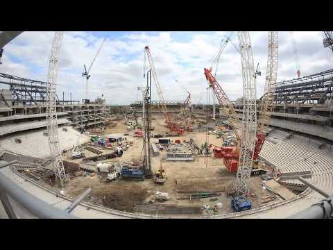 New Spurs Stadium HD Time Lapse - up to 24th June 2017