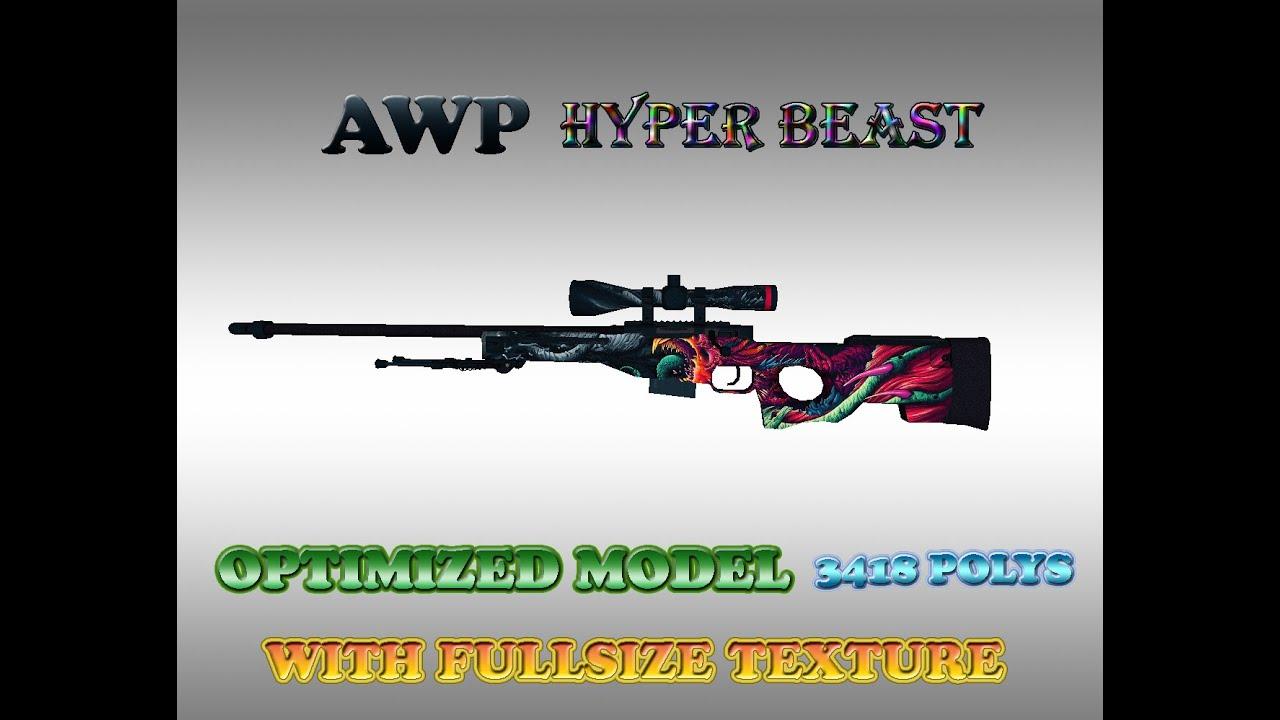 Cs Go Awp Hyper Beast Fullsize Texture For Cs 1 6 By Olaf555555
