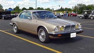 1976 Jaguar XJ 2 Door Pillarless Coupe in Gold Paint & Start Up on My Car Story with Lou Costabile