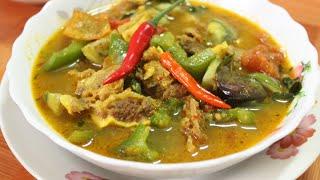 សម្លម្ជូរគ្រឿងសាច់គោ | Samlor Maju Kroeng sach Kor | Khmer Food