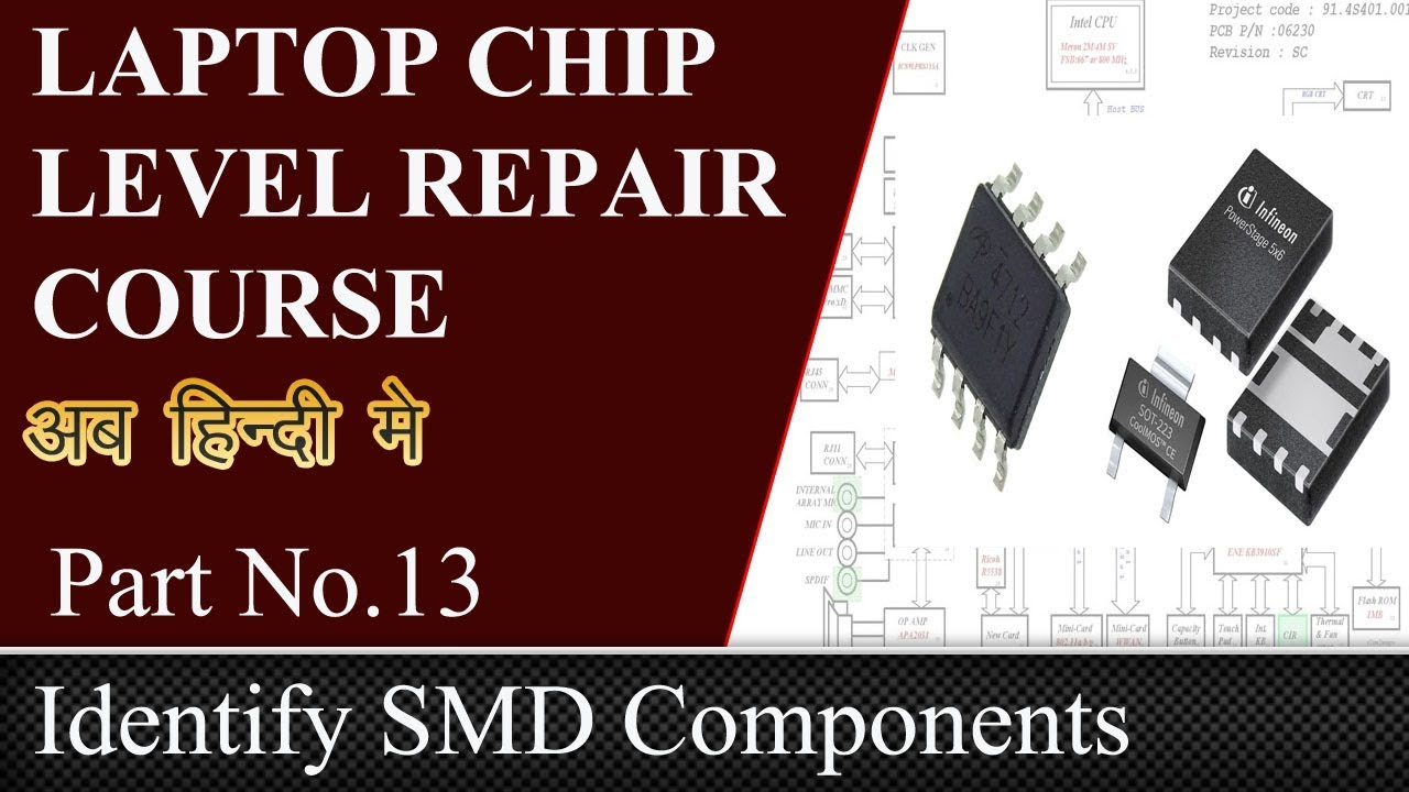 How to identify smd components on motherboard and schematics youtube how to identify smd components on motherboard and schematics laptop repair ccuart Images