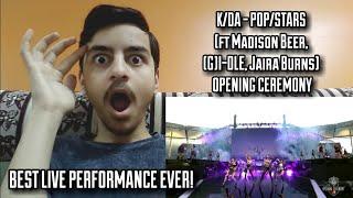K/DA - POP/STARS (ft Madison Beer, (G)I-DLE, Jaira Burns) OPENING CEREMONY   REACT