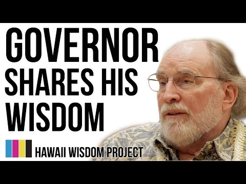 Hawaii Wisdom Project presents Governor of Hawaii Neil Abercrombie