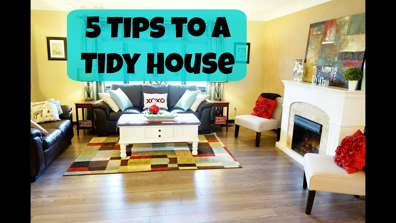 5 tips for a tidy home - youtube