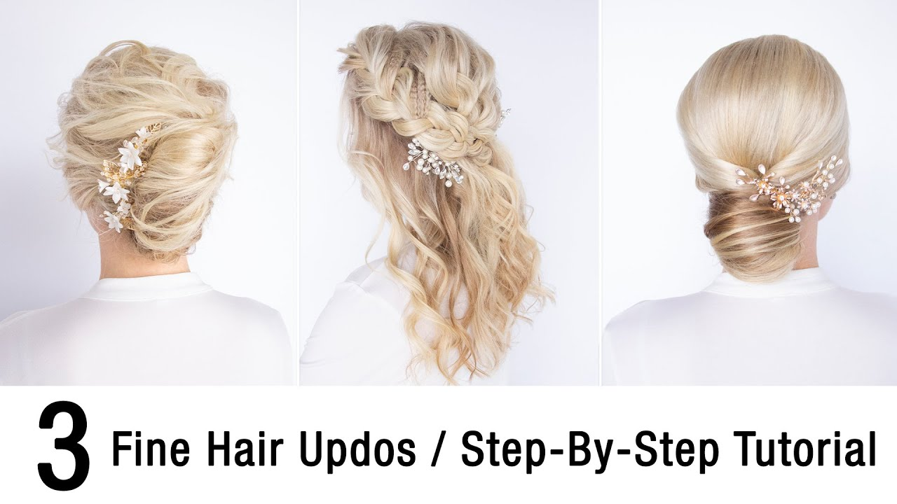 3 Fine Hair Updos | Step-By-Step Tutorial | Kenra Professional