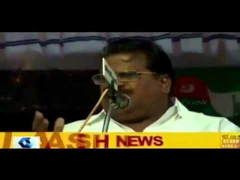 CPM Leader EP Jayarajan speech at Kanthapuram's Kerala Yathra @  Thalipparamba