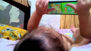Baby Playing Games on Phone
