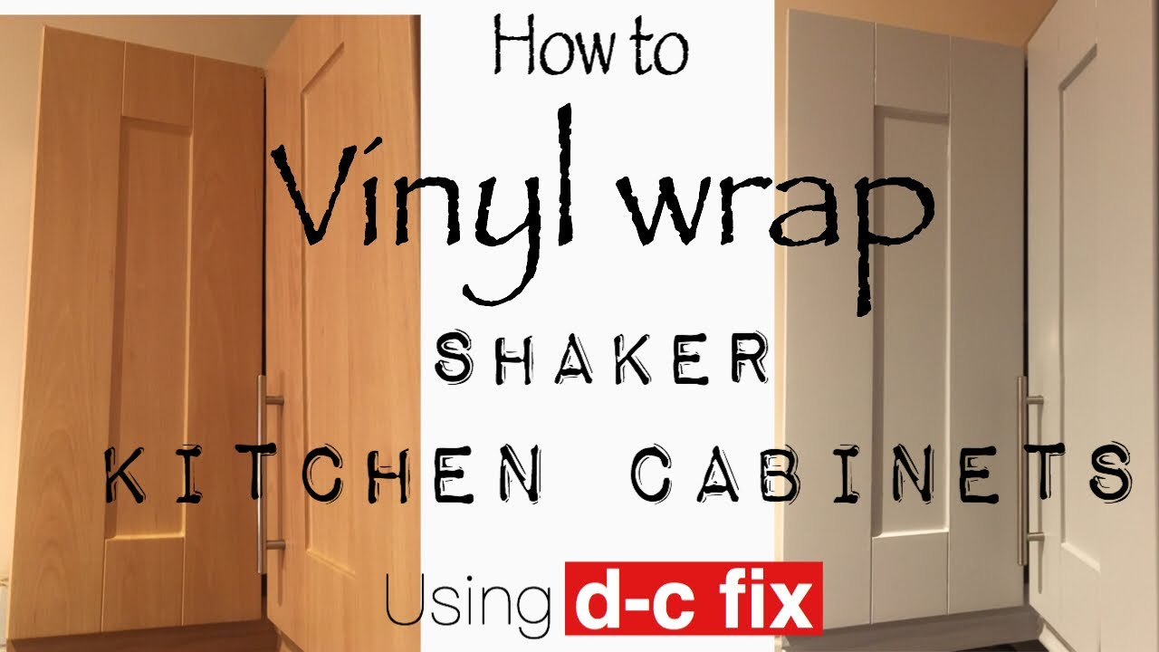 Vinyl Wrap Kitchen Cabinet Doors Using Fablon D C Fix Youtube
